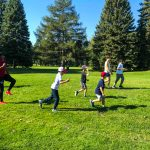 Programme DSPM Montréal-Athlétisme. Le groupe court au ralentie.