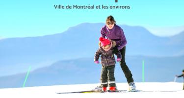 Logo ASAQ. Texte : Offre d'emploi. Intervenant sportif. Ville de Montréal et les environs. Photo d'une Intervenante sportive en train de guider une jeune sur une pente de ski.
