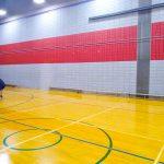 Tennis sonore ASAQ Aut. 2019. Yan pratique face au mur.